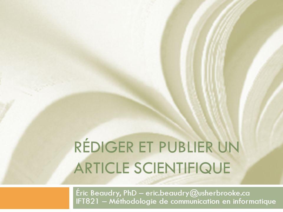 Rédiger et publier un article scientifique