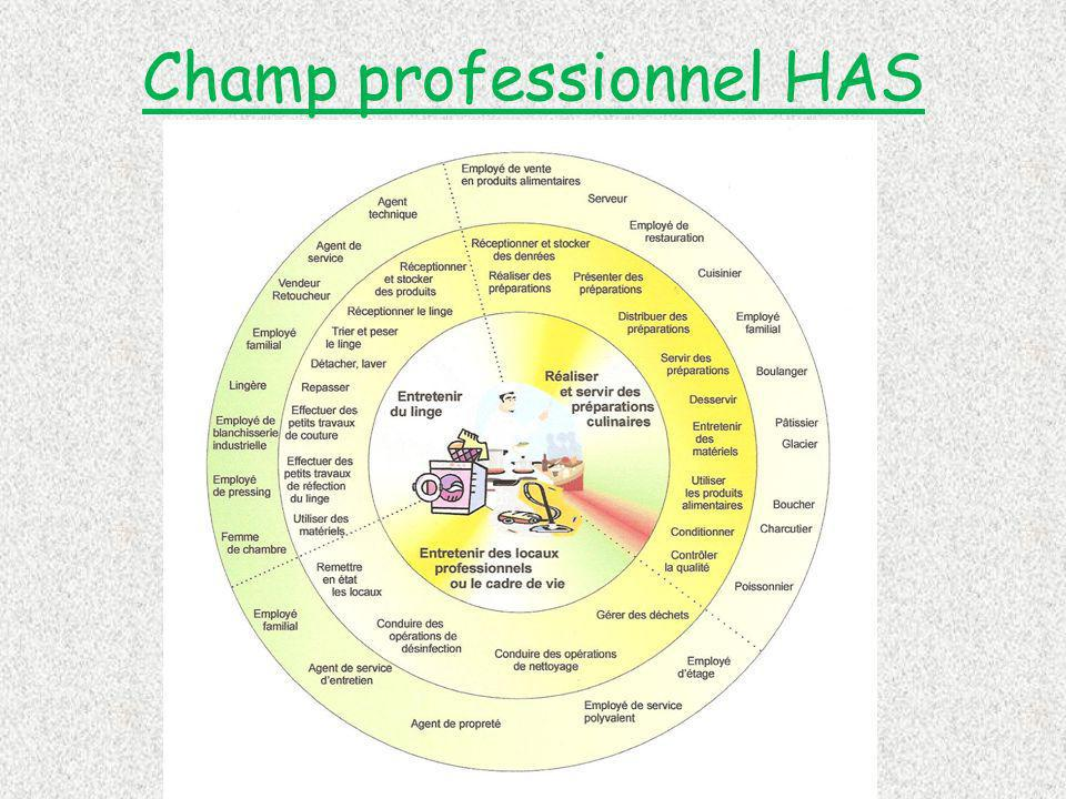 Champ professionnel HAS