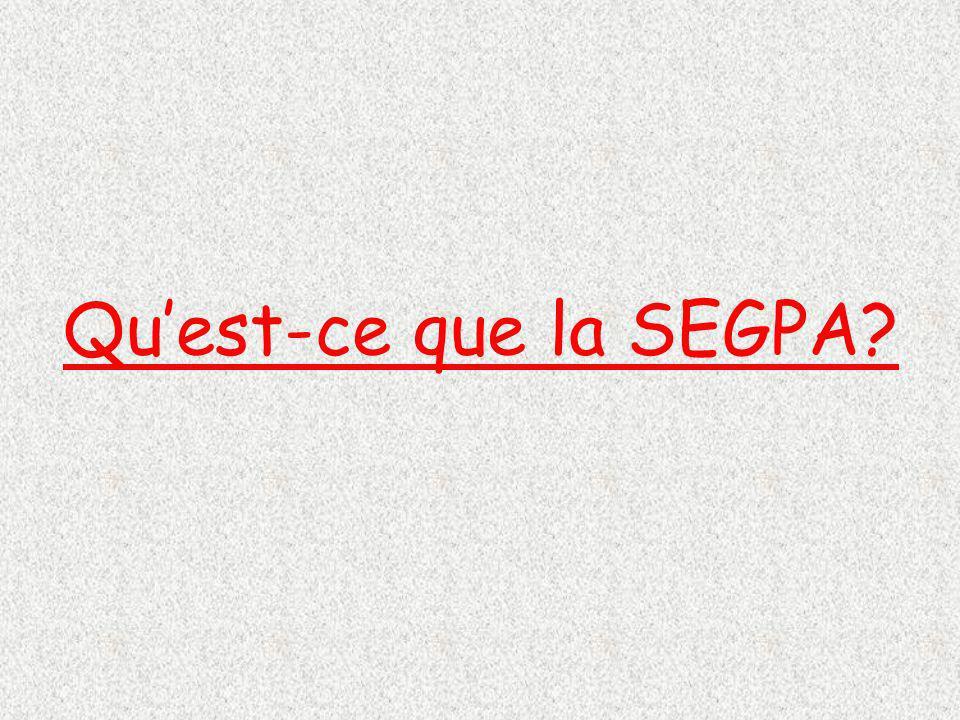 Qu'est-ce que la SEGPA