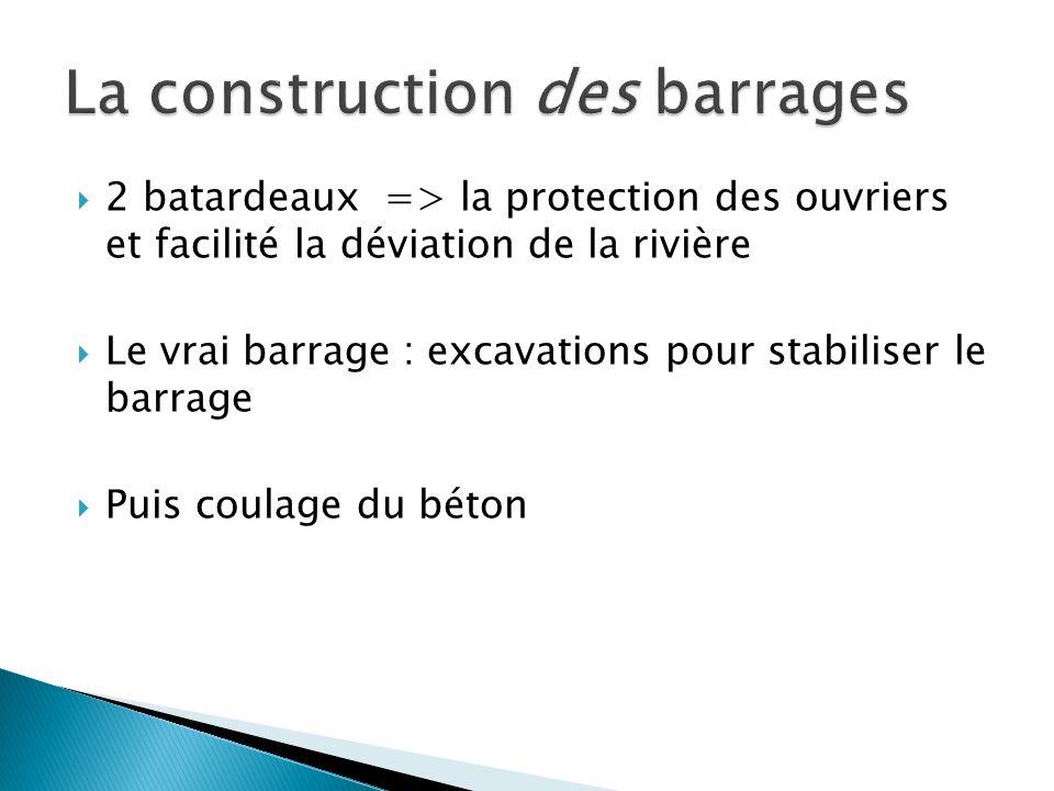 La construction des barrages