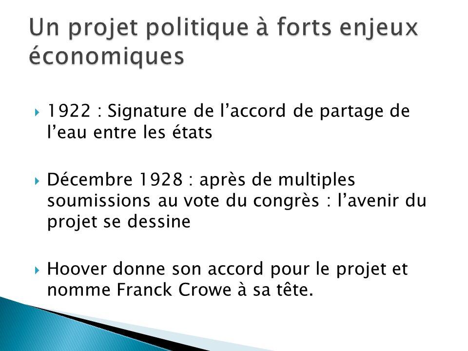 Un projet politique à forts enjeux économiques