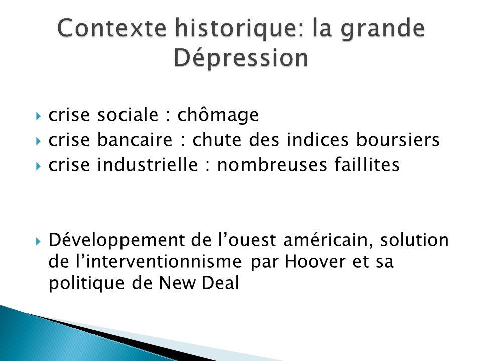 Contexte historique: la grande Dépression