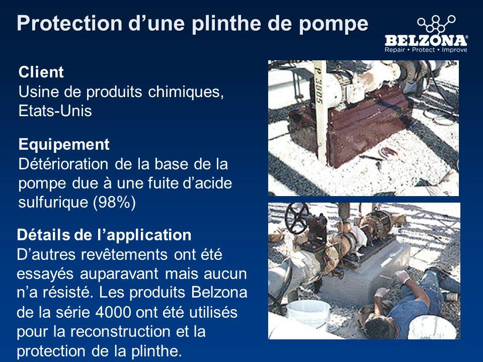 Protection d'une plinthe de pompe