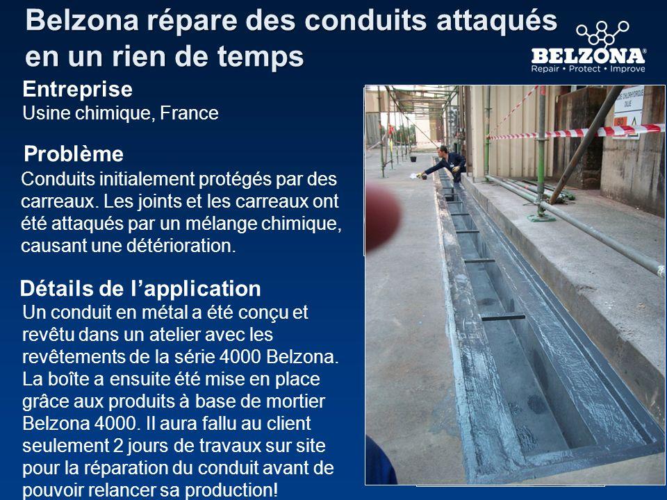 Belzona répare des conduits attaqués en un rien de temps