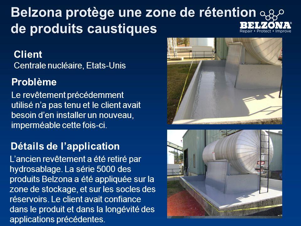 Belzona protège une zone de rétention de produits caustiques