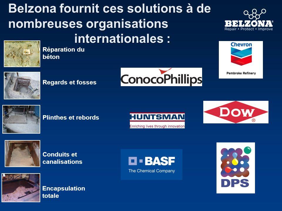 Belzona fournit ces solutions à de nombreuses organisations