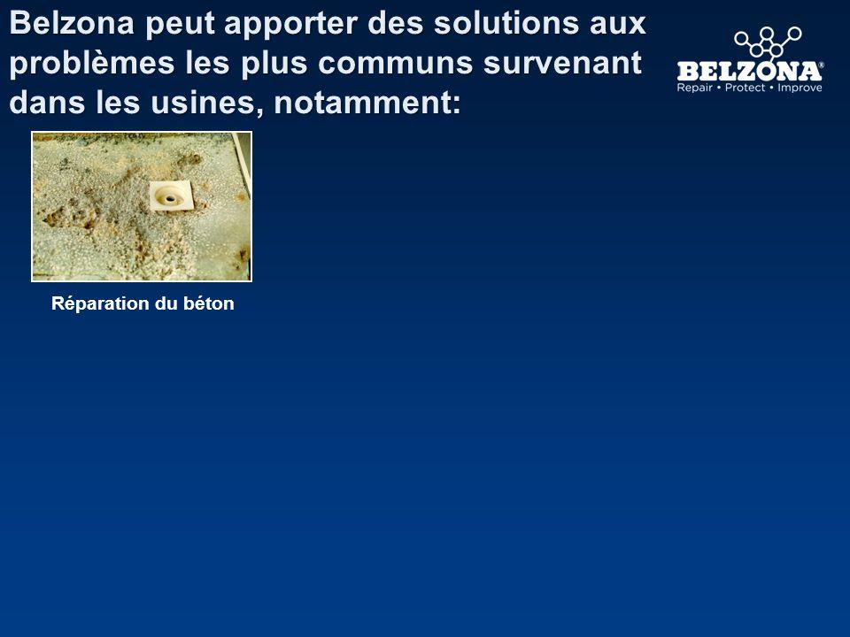 Belzona peut apporter des solutions aux problèmes les plus communs survenant dans les usines, notamment: