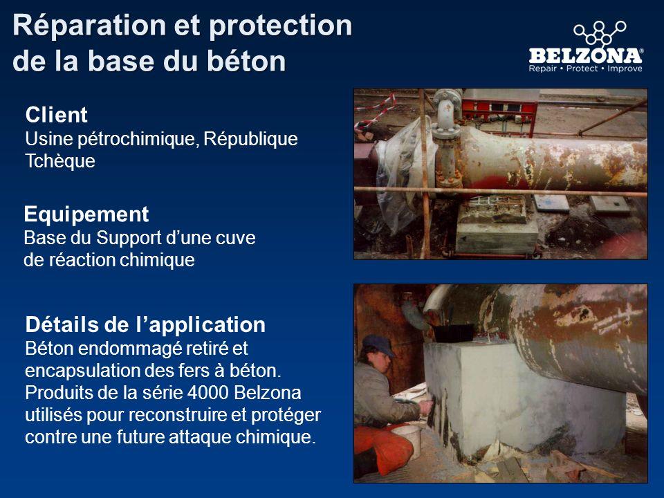 Réparation et protection de la base du béton