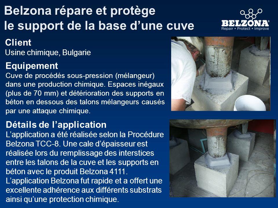 Belzona répare et protège le support de la base d'une cuve
