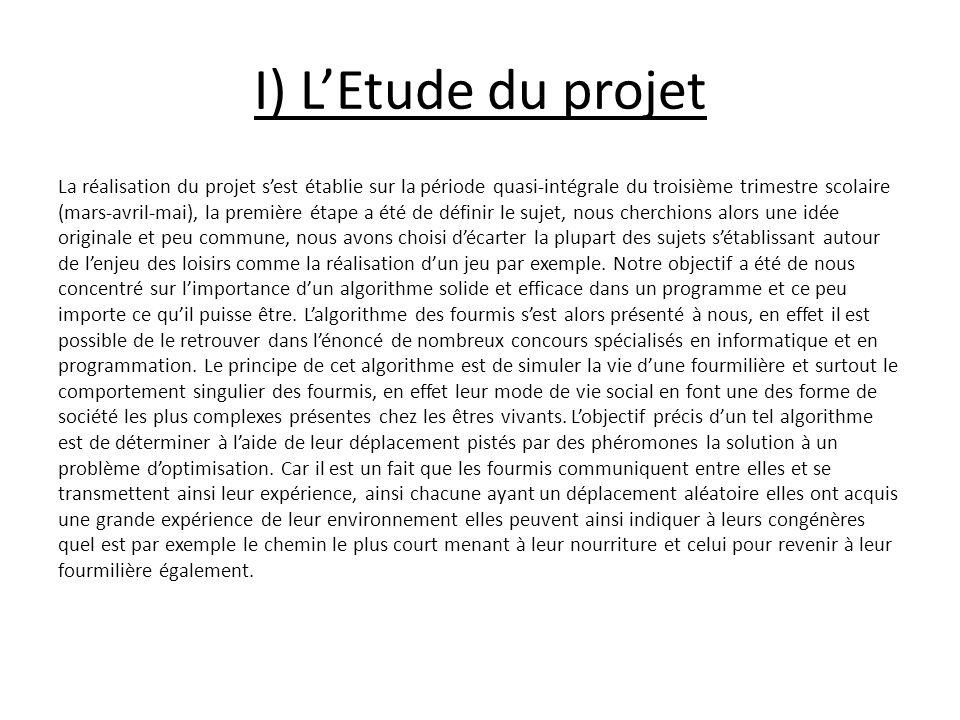 I) L'Etude du projet