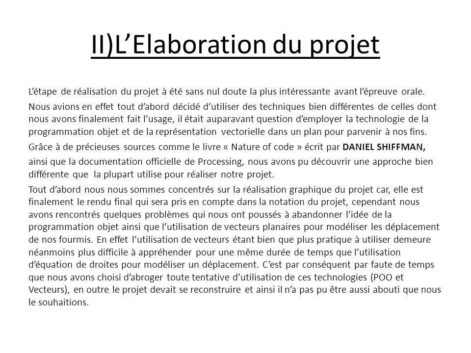 II)L'Elaboration du projet