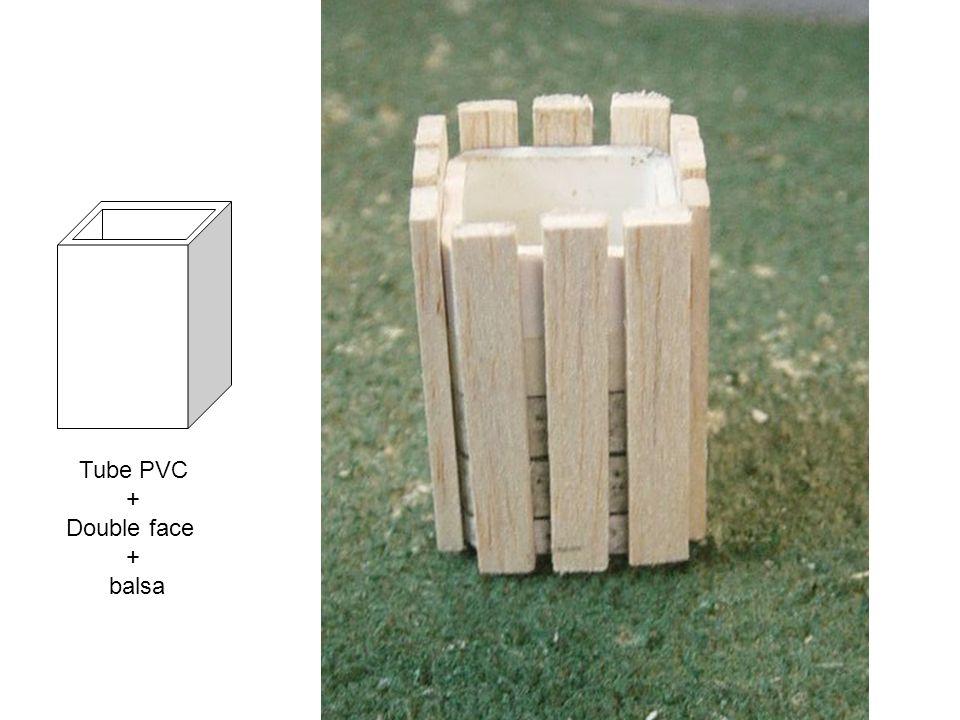 Tube PVC + Double face balsa