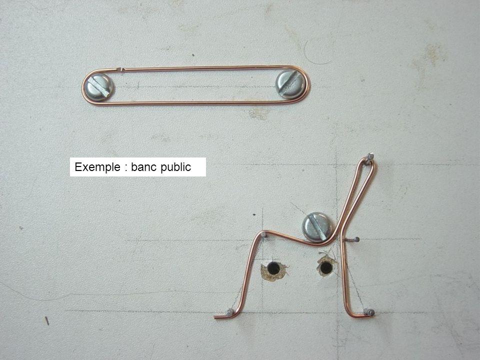 Exemple : banc public