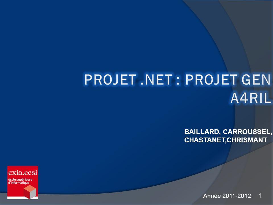 Projet .NET : Projet GEn A4RIL