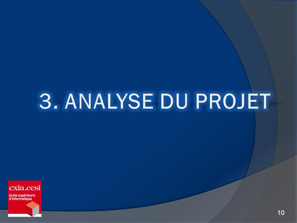 3. Analyse du projet
