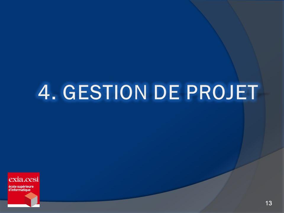 4. Gestion de projet