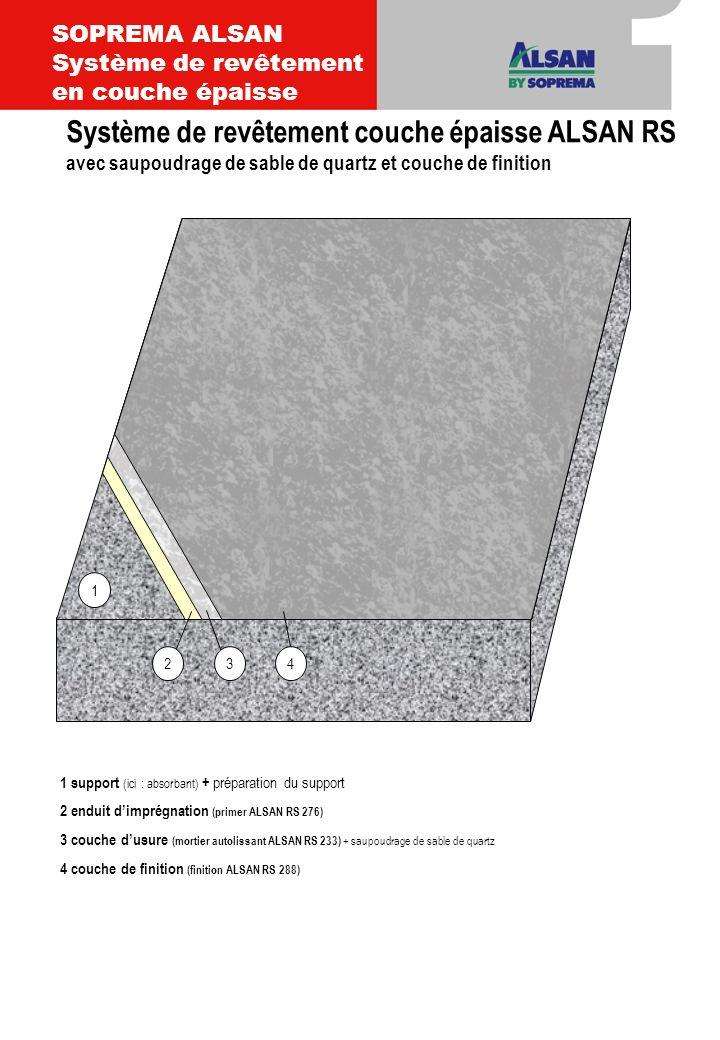SOPREMA ALSAN Système de revêtement en couche épaisse