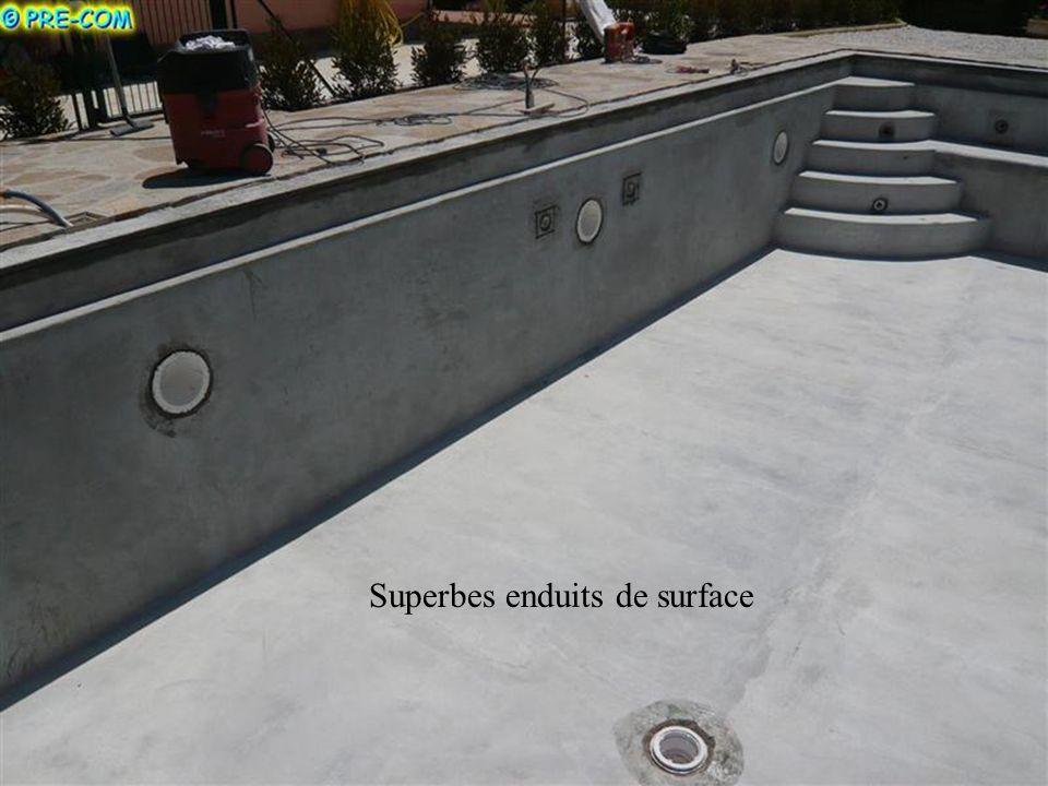Superbes enduits de surface