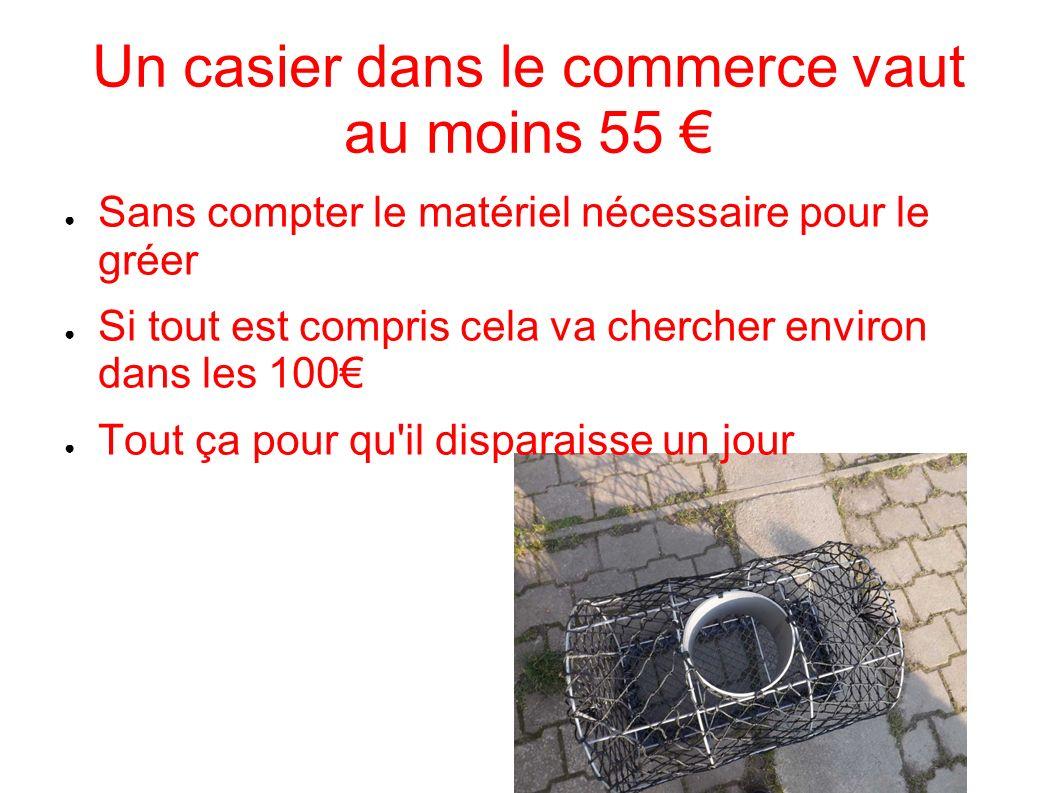 Un casier dans le commerce vaut au moins 55 €
