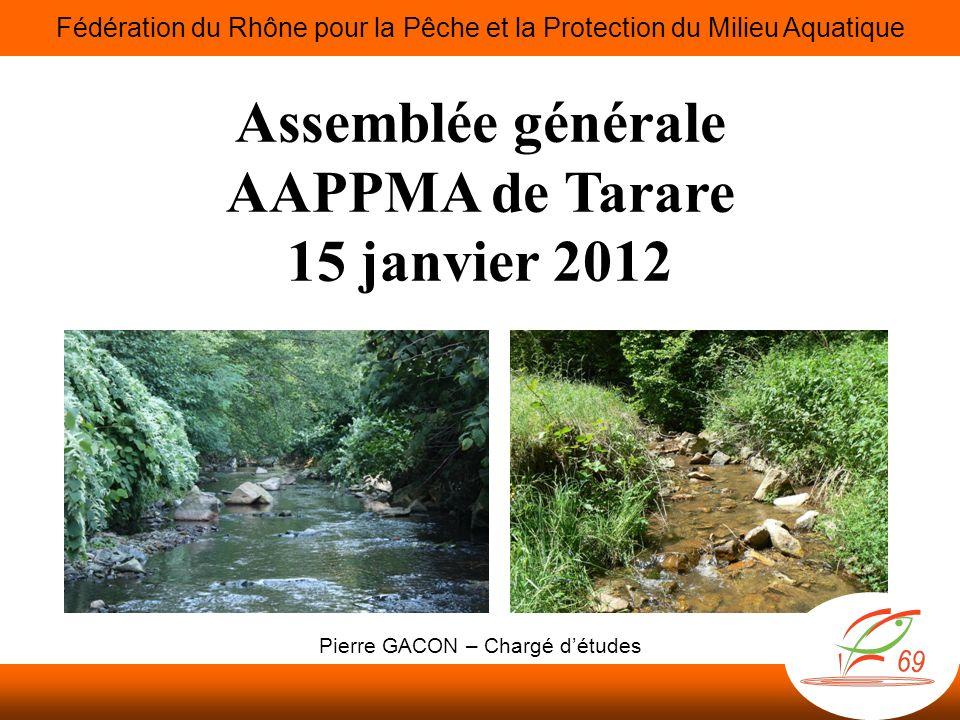 Assemblée générale AAPPMA de Tarare 15 janvier 2012