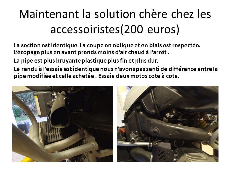 Maintenant la solution chère chez les accessoiristes(200 euros)