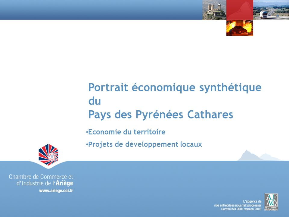 Portrait économique synthétique du Pays des Pyrénées Cathares