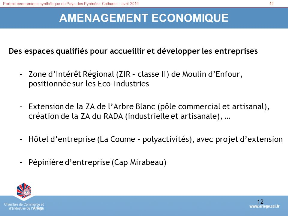 AMENAGEMENT ECONOMIQUE