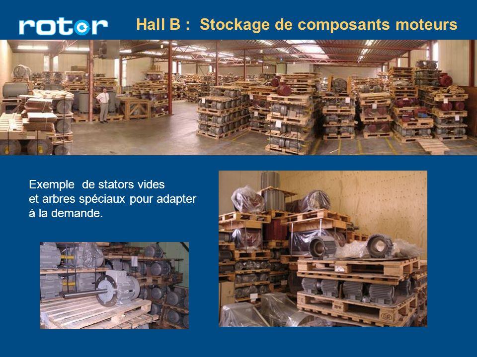 Hall B : Stockage de composants moteurs