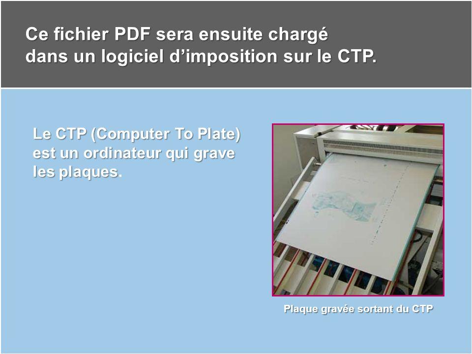 Plaque gravée sortant du CTP