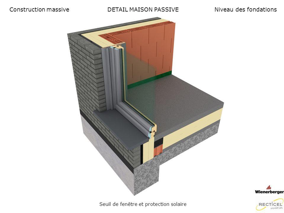 Seuil de fenêtre et protection solaire