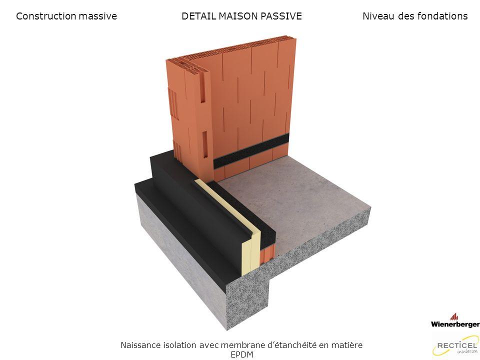 Naissance isolation avec membrane d'étanchéité en matière EPDM