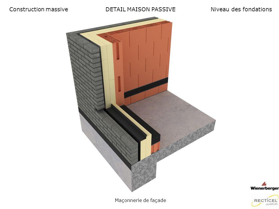 Construction massive DETAIL MAISON PASSIVE Niveau des fondations