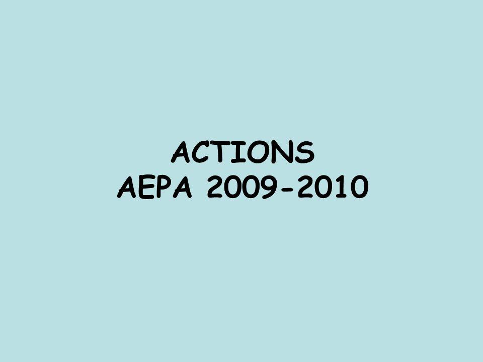 ACTIONS AEPA 2009-2010