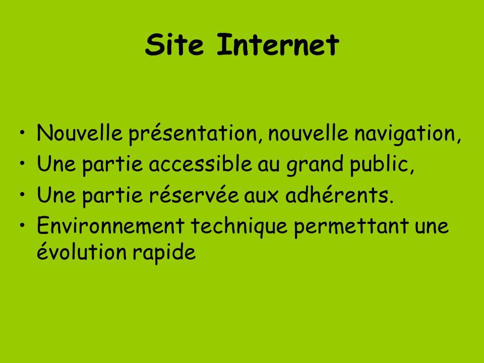 Site Internet Nouvelle présentation, nouvelle navigation,