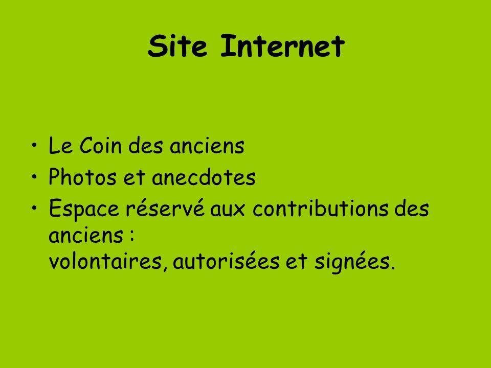 Site Internet Le Coin des anciens Photos et anecdotes