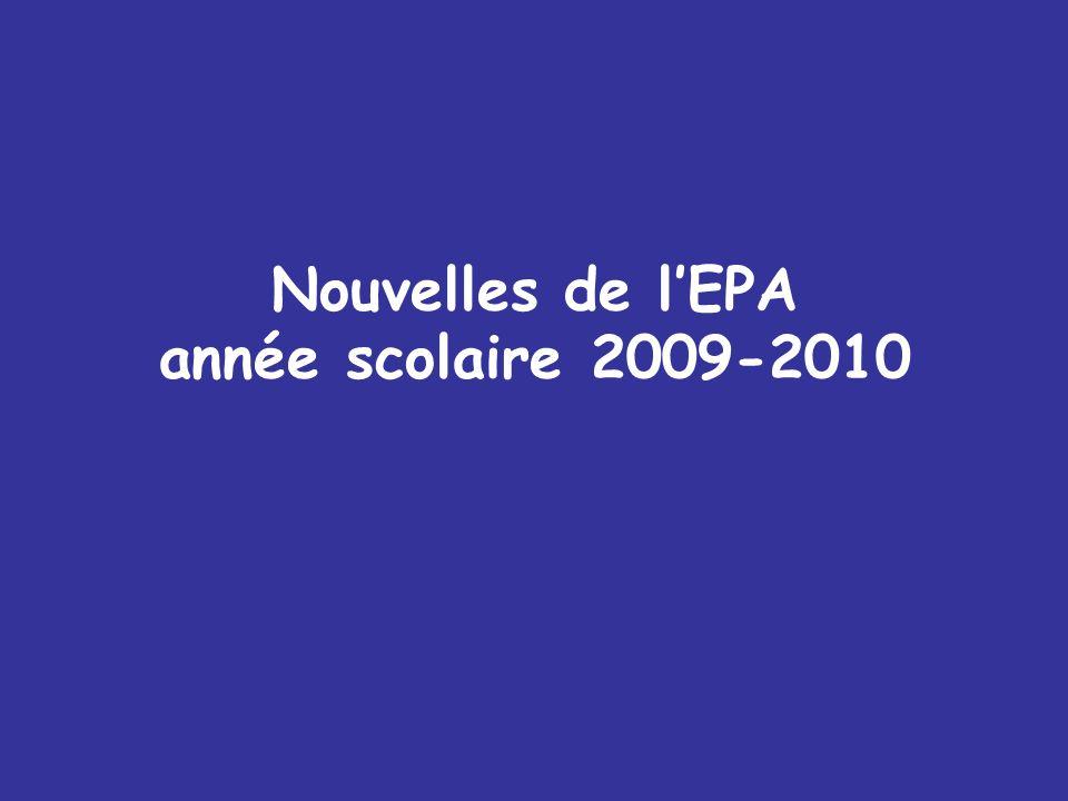 Nouvelles de l'EPA année scolaire 2009-2010