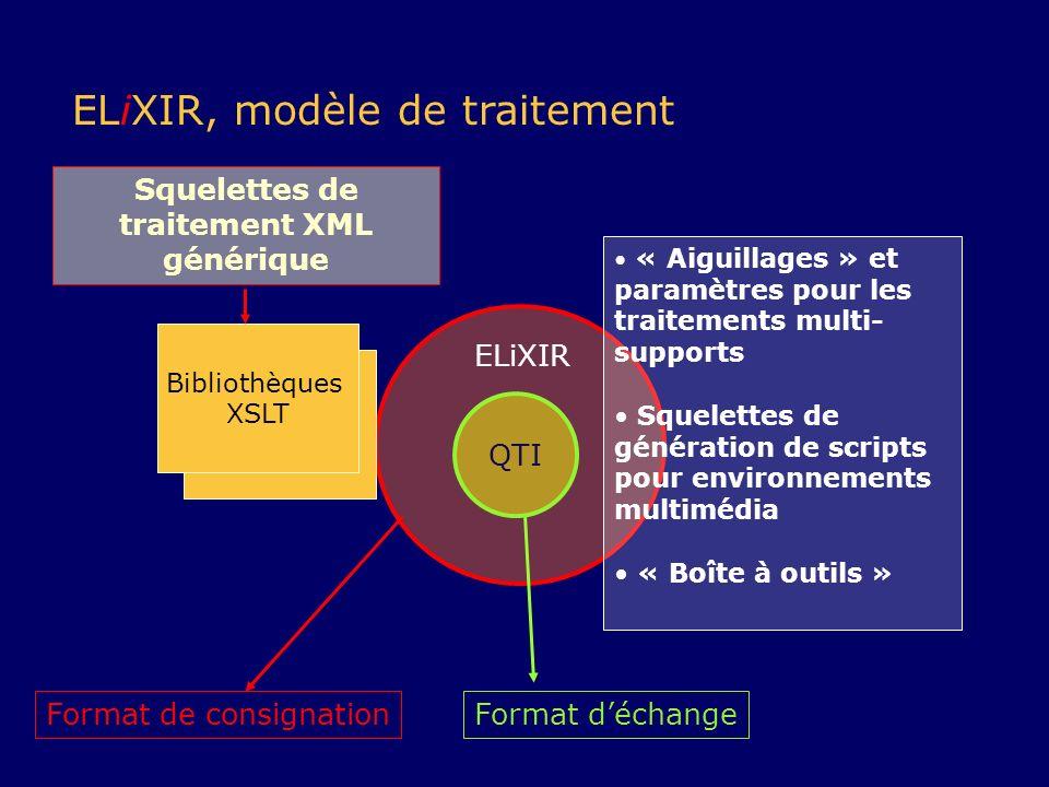Squelettes de traitement XML générique
