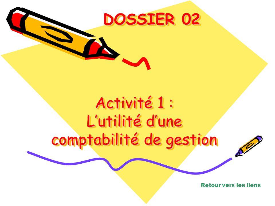Activité 1 : L'utilité d'une comptabilité de gestion