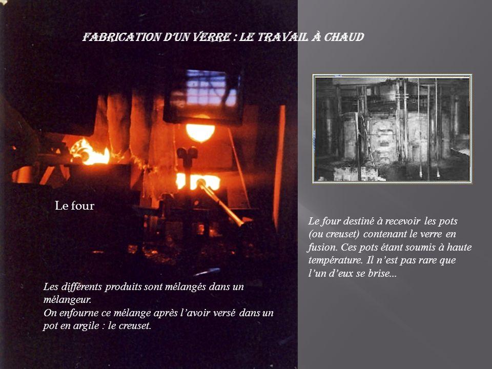 Fabrication d'un verre : Le travail à chaud