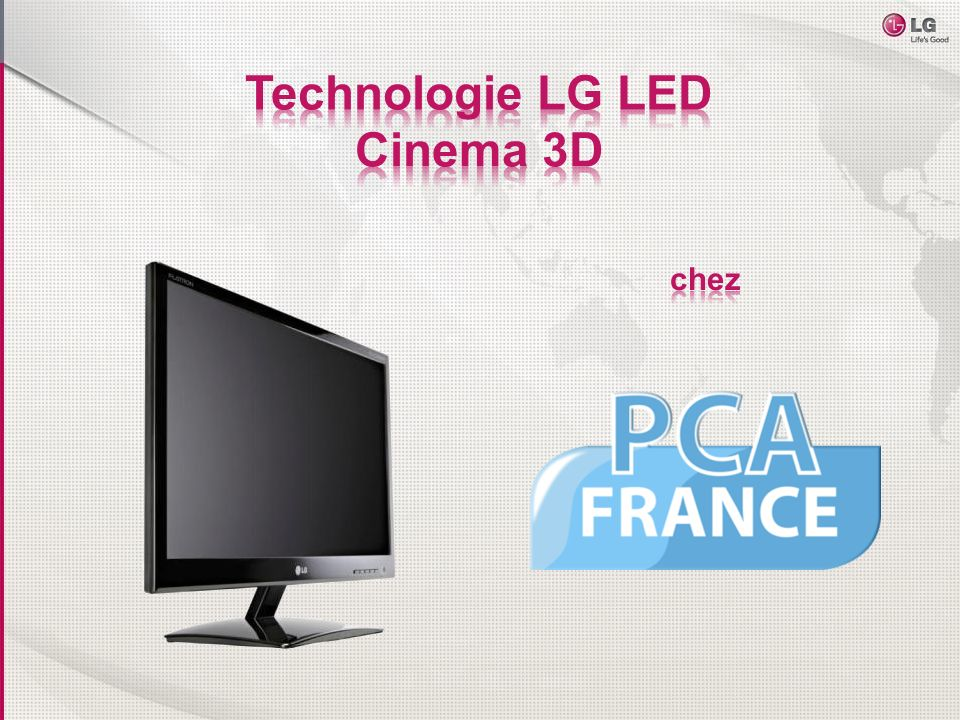 Technologie LG LED Cinema 3D