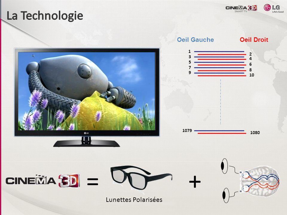 = + La Technologie Lunettes Polarisées Oeil Gauche Oeil Droit 1 2 3 4