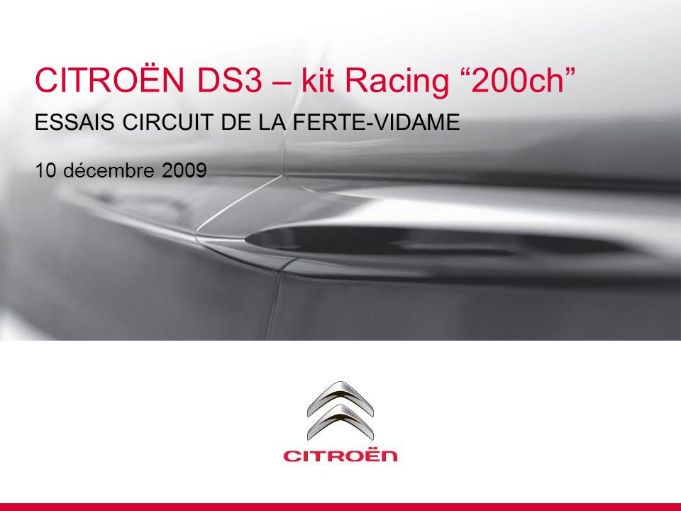 CITROËN DS3 – kit Racing 200ch