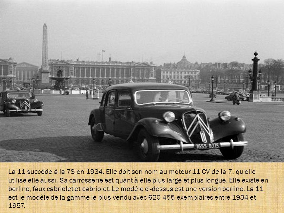 La 11 succède à la 7S en 1934.