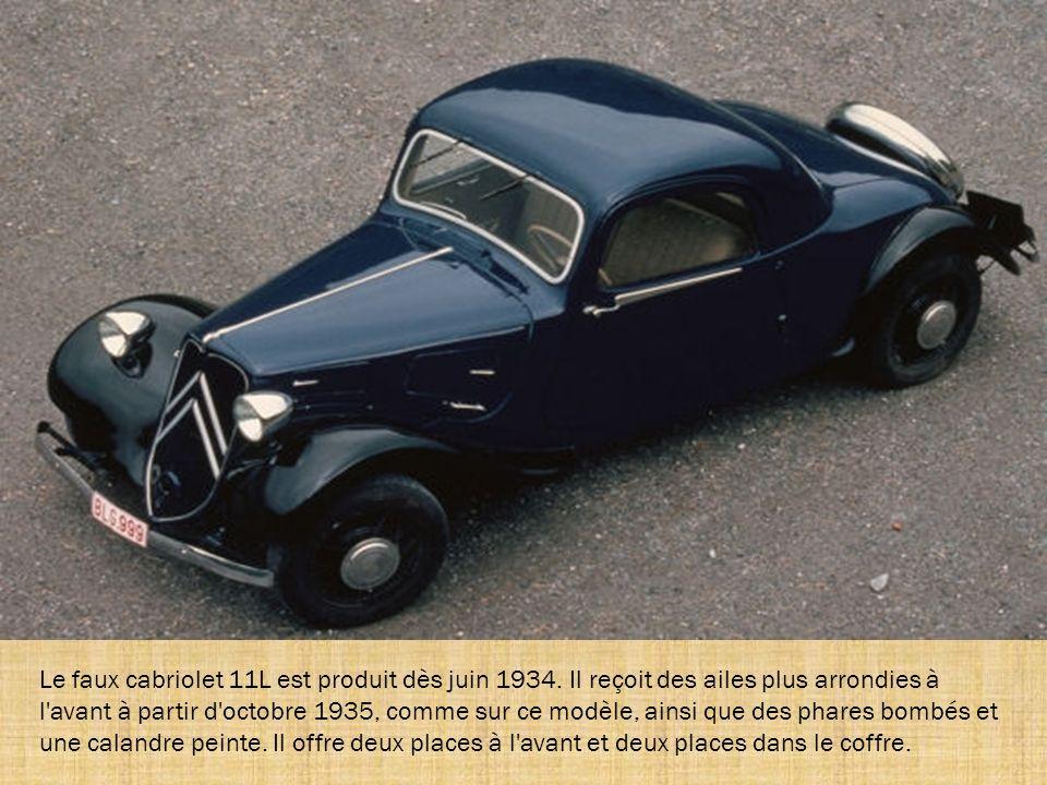 Le faux cabriolet 11L est produit dès juin 1934