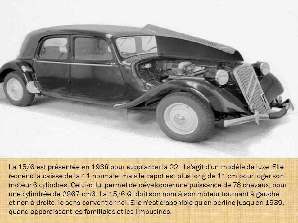 La 15/6 est présentée en 1938 pour supplanter la 22