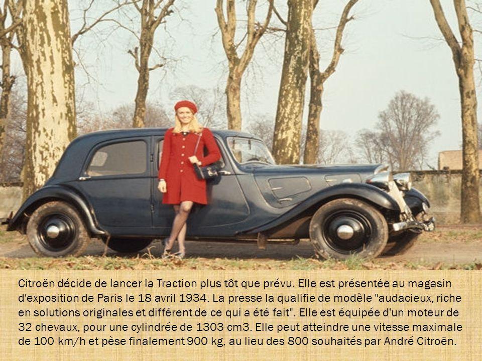 Citroën décide de lancer la Traction plus tôt que prévu