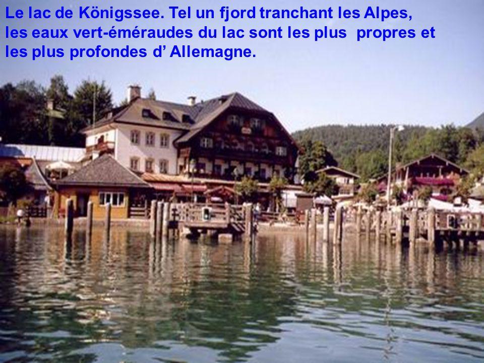 Le lac de Königssee.