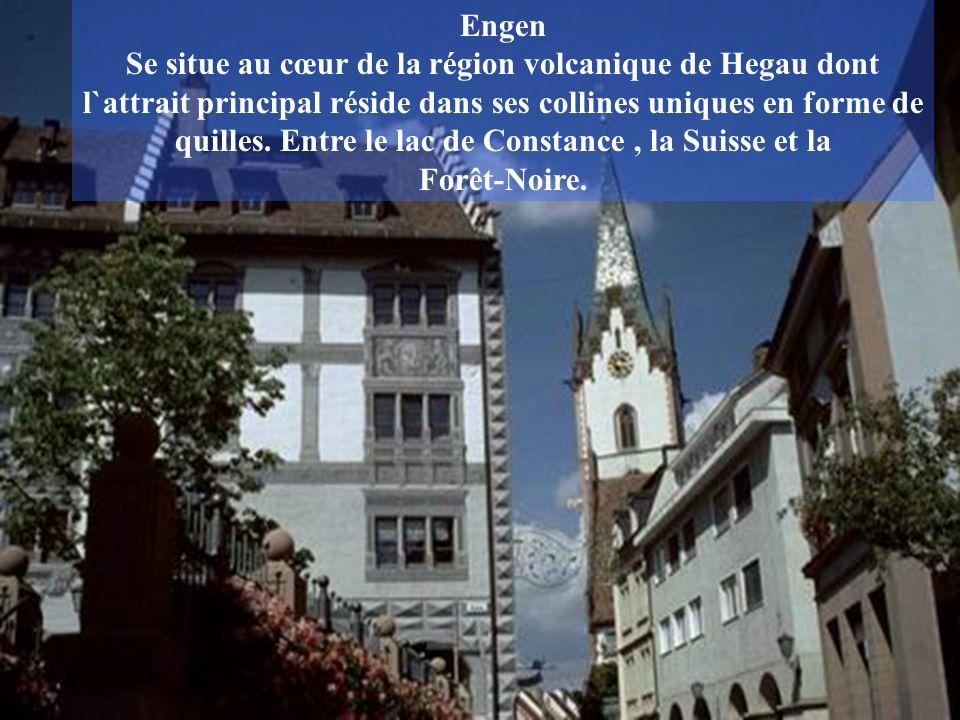 Engen Se situe au cœur de la région volcanique de Hegau dont l`attrait principal réside dans ses collines uniques en forme de quilles.