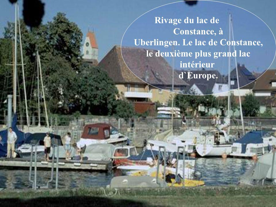 Uberlingen. Le lac de Constance, le deuxième plus grand lac