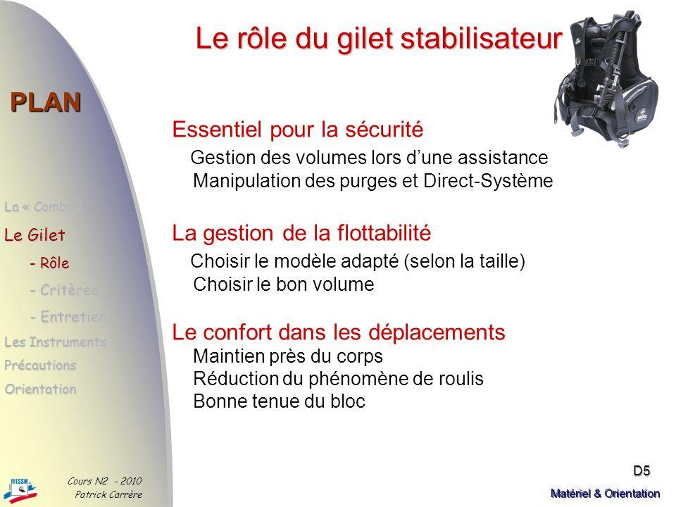 Le rôle du gilet stabilisateur